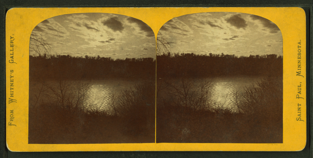 View_of_moonlight_reflecting_on_water,_with_trees_and_clouds,_by_Whitney's_Gallery