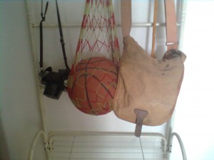 Wei An's Camera Basketball and Bag
