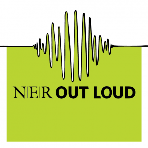 NER Out Loud logo in bright spring green!